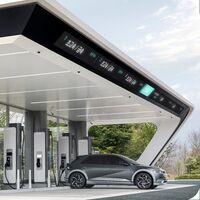 Hyundai prepara sus E-Pit:  red de cargadores de autos eléctricos inspirada en la Formula 1, para competir contra los supercharger de Tesla
