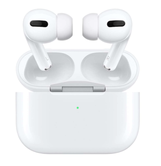 Auriculares de botón Apple Airpods Pro con estuche de carga inalámbrica