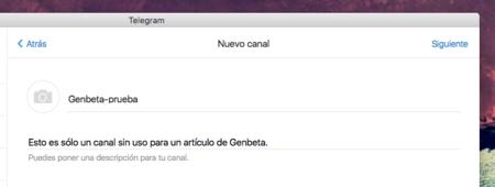Canal Telegram Nombre