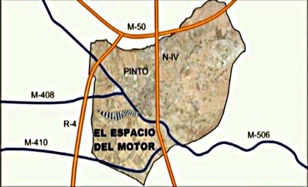Espacio del motor en Pinto