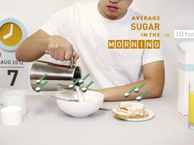 ¿Cuánto azúcar consumes al día?