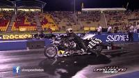 Explosión de una Top Fuel Harley-Davidson