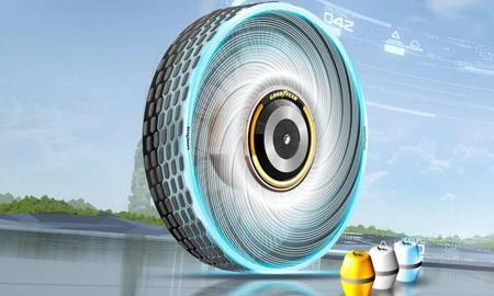 Este concepto de neumático biodegradable regenera su banda de rodadura