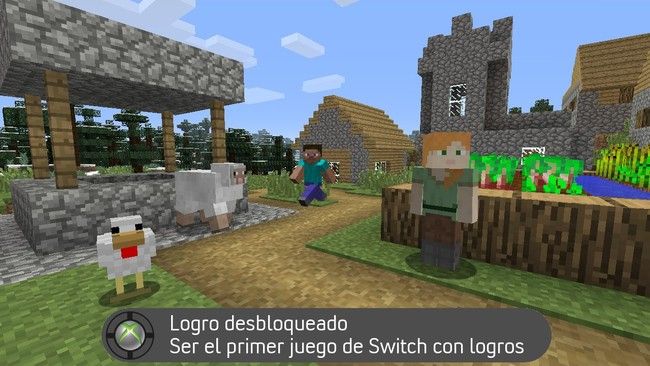 Minecraft será el primer juego de Nintendo Switch en contar con logros... de Xbox Live