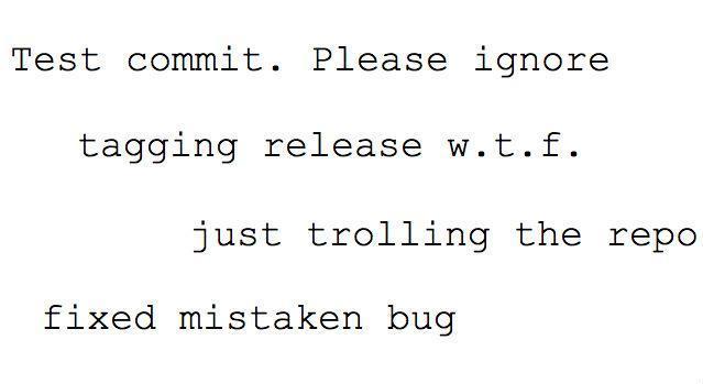 mensajes de commit