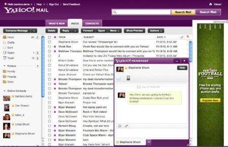 Yahoo ofrece una muestra de su nueva interfaz de correo
