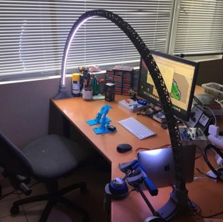 Aquí podemos ver mejor la estructura de la lámpara