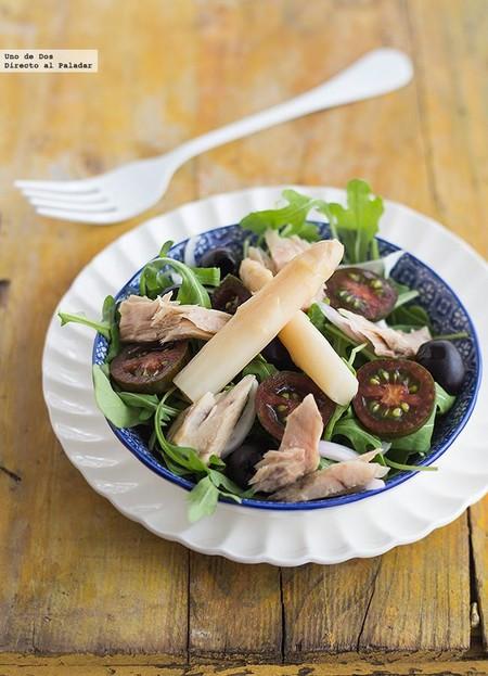 Receta de ensalada mixta con cebolleta morada