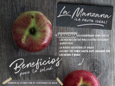 La manzana, la fruta ideal. Infografía