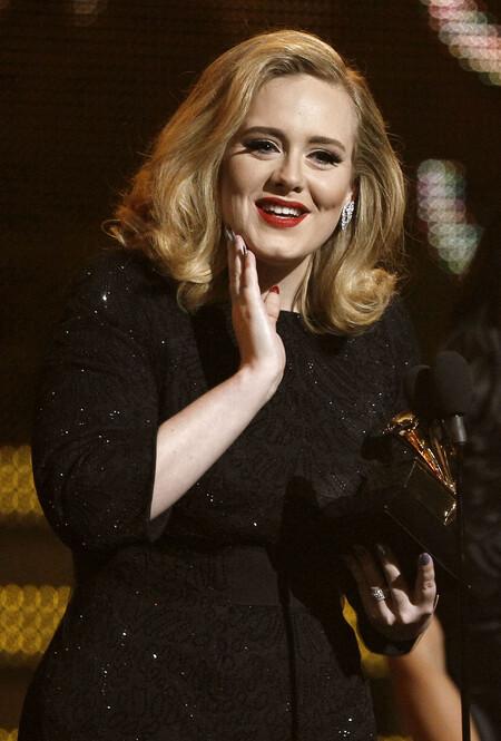Adele Nail Art Grammy 2012