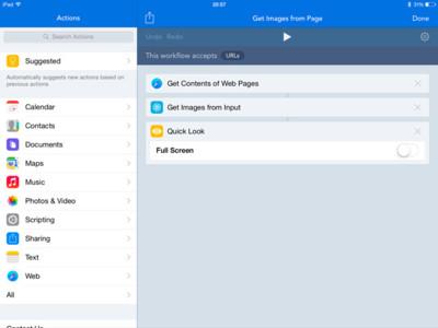Workflows, automatizando acciones en iOS de forma sencilla