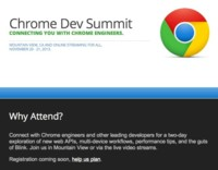 Chrome Dev Summit: Google anuncia un evento de desarrolladores exclusivo para Chrome