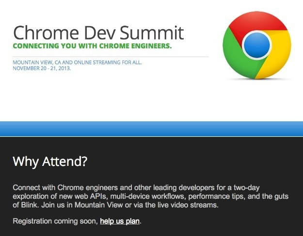 chrome dev summit evento google desarrolladores