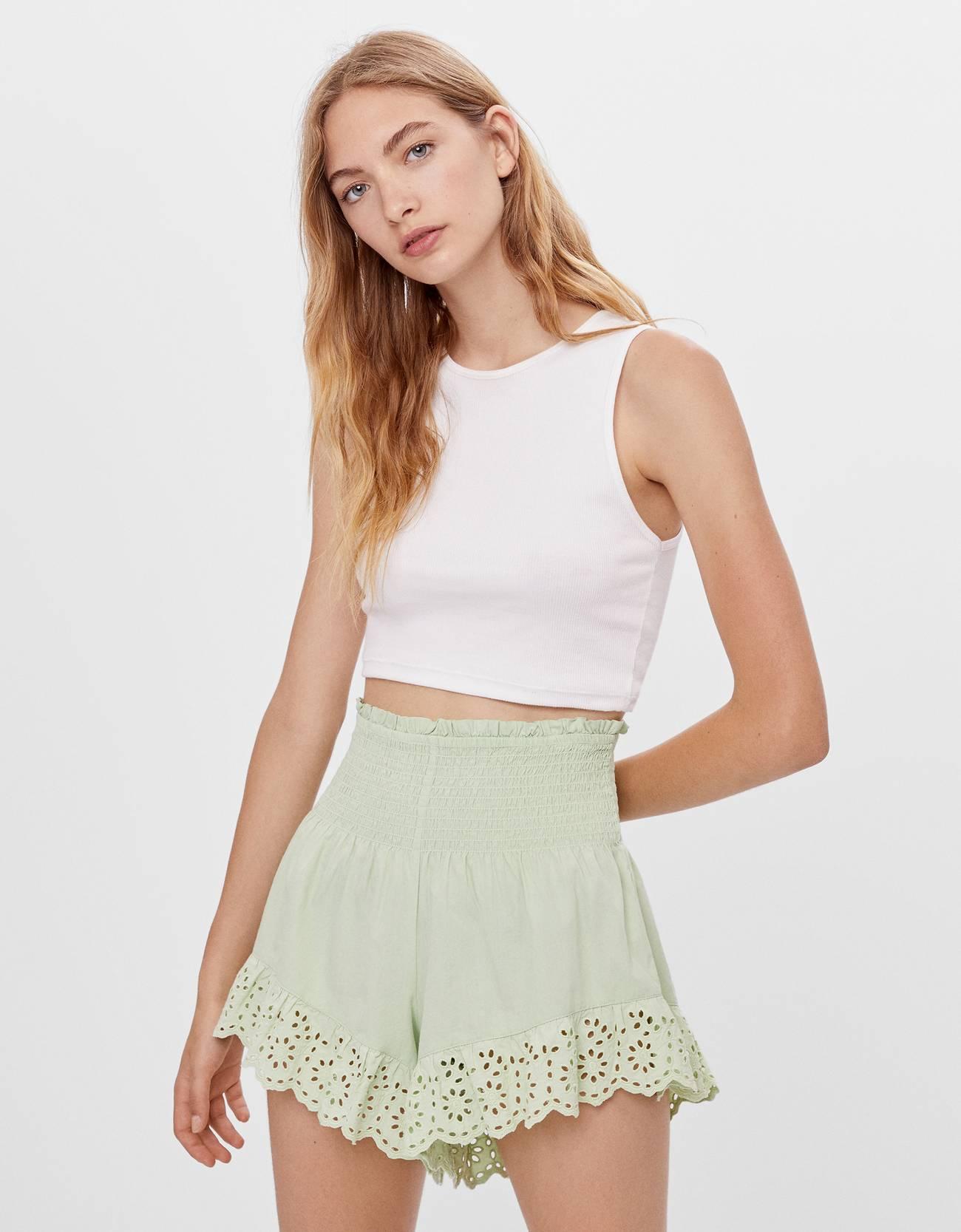 Shorts de encaje