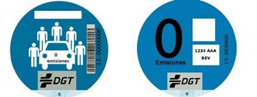 Toda la información sobre la etiqueta CERO de la DGT: las dos versiones y para qué se utiliza cada una