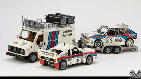 La escudería Lancia Martini está compitiendo pero ahora en Lego Ideas