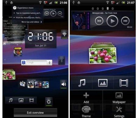 Filtrada la nueva interfaz de Sony Ericsson para la línea Xperia con Android