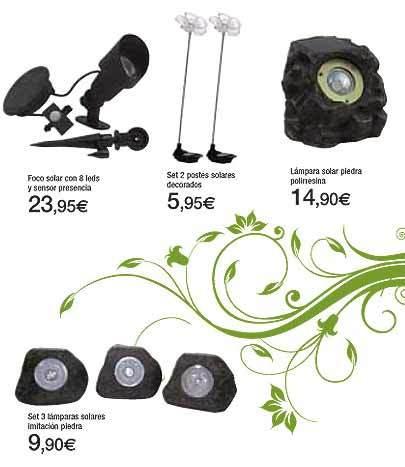 Lámparas solares en Carrefour