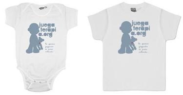 Juegaterapia, camisetas y bodys para niños