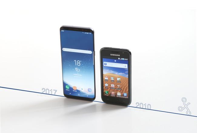 Evolución diseño Galaxy S
