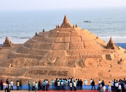 ¿Dónde está el castillo de arena más grande del mundo?