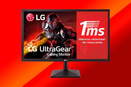 """El monitor gaming LG UltraGear Full HD de 23,8"""" a precio de escándalo y más barato que nunca en Amazon: 84,15 euros"""