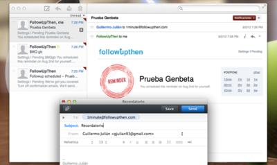 FollowUpThen, crea recordatorios con sólo enviar un correo