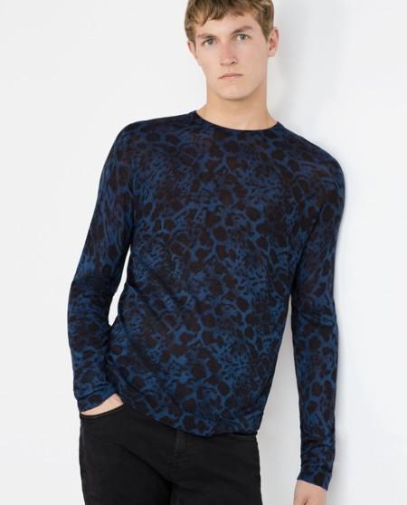 Jersey con estampado leopardo