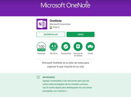 OneNote mejora su rango de seguridad en Android con la incorporación del desbloqueo por huella dactilar
