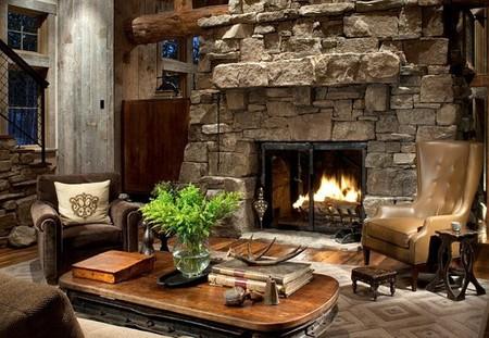 Una caba a llena de chimeneas en montana - Fotos de chimeneas rusticas ...