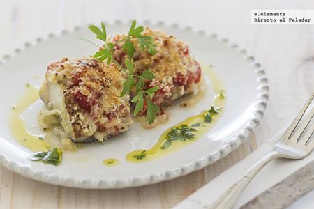 Bacalao al horno a las tres capas: receta diferente de pescado al horno