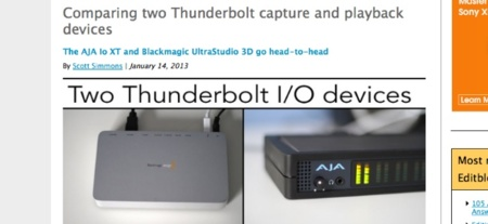 Aja Io XT vs Blackmagic Design UltraStudio 3D, interesante comparativa