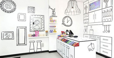 Una tienda de golosinas deliciosamente decorada