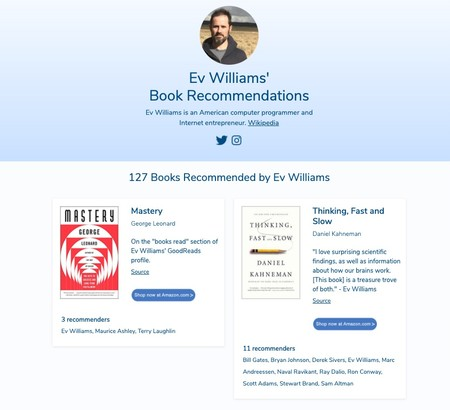 Window Y Ev Williams Book Recommendations 127 Recommended Books