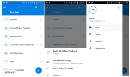 Dropbox llega a la versión 3.0 con Material Design incluido