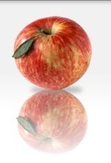 Una manzana con la pulpa roja