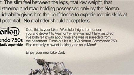 El mejor regalo que puedas hacer a un padre motero: renovar su Norton Commando