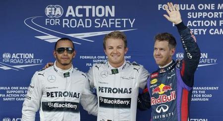 Mercedes AMG copa la primera fila en el Gran Premio de España