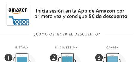 Cinco euros gratis en Amazon sólo por instalar su aplicación para móviles, tanto iOS como Android