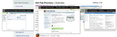 Ctrl Tab Preview, previsualizaciones en el cambio de pestañas