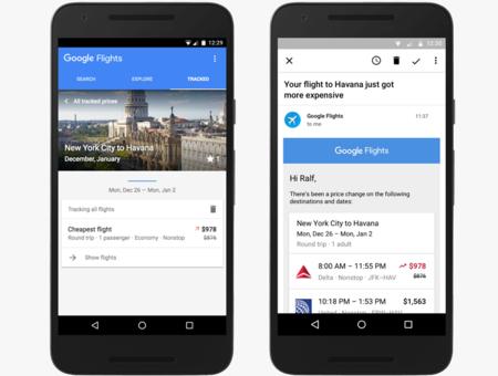 Google Flights predice cuándo los precios de los vuelos van a subir y te avisa para que compres antes