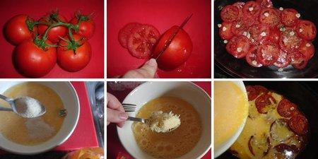 Pastel frío de tomate