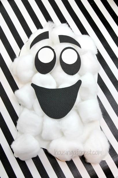 Manualidades Halloween Fantasmas Algodon