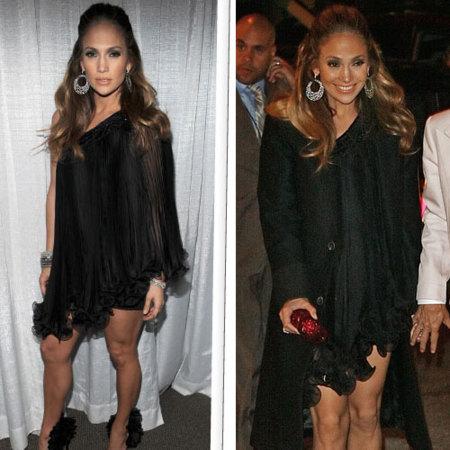 El look de Jennifer Lopez en San Valentin