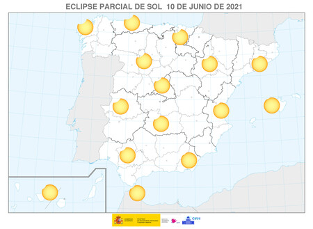 Mapa Eclipse Sol