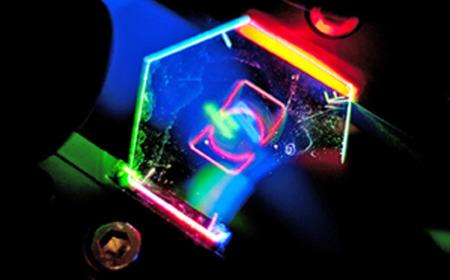 Holograma del logo de HP