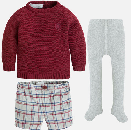 Conjunto Con Pantalon Corto Bebe