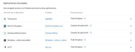 Aplicaciones Autorizadas Dropbox