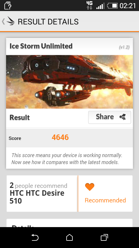 HTC Desire 510, rendimiento