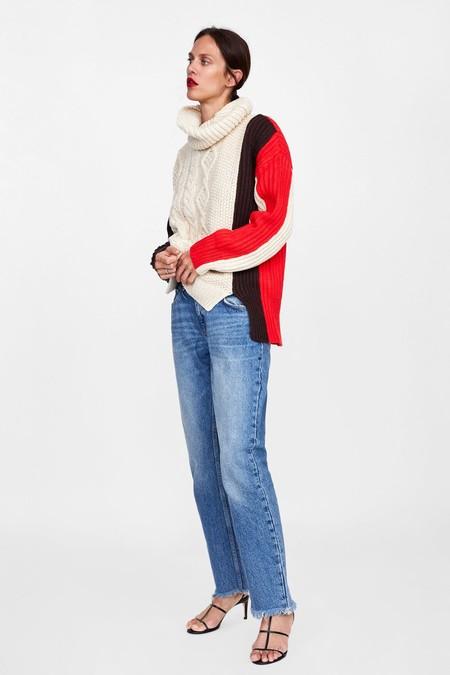 Jersey Cuello Alto Color Block